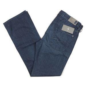 7 For All Mankind Brett Slim Bootcut Jeans Blue 34